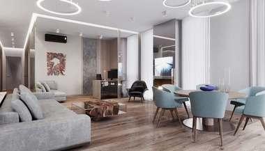 Объединение двух квартир в 5-комнатную, ЖК «Воробьев Дом»