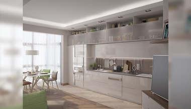 Интерьер трехкомнатной квартиры для семейной пары, Сколково Парк