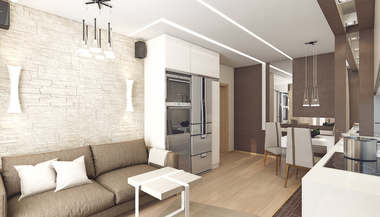 Проект 2-х комнатной квартиры площадью 62 кв. м. в Раменском