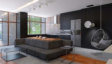 Дизайн интерьера двухэтажного дома, «Миллениум Парк»