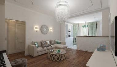 Проект интерьера 3-комнатной квартиры, проспект Вернадского