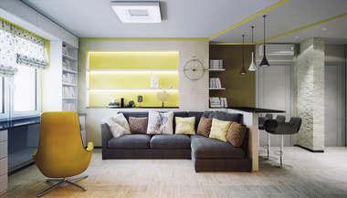 Проект трехкомнатной квартиры площадью 100 кв.м. в городе Мытищи