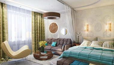 Дизайн интерьера двухкомнатной квартиры в 60 кв.м., Бутово-Парк