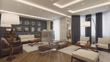 Дизайн четырехкомнатной квартиры, м. Киевская