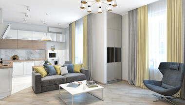 Проект двухкомнатной квартиры, ЖК «Резиденции Сколково»