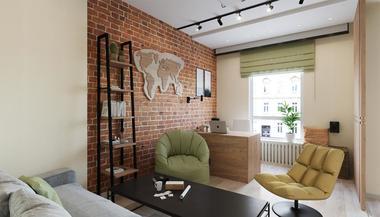 Дизайн-проект трехкомнатной квартиры 84 кв.м. в ЖК «Green Park»