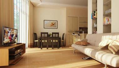 Дизайн квартиры 50 кв. м. | Дизайн однокомнатной квартиры 50 кв. м.