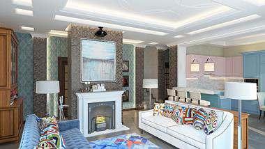 Дизайн трехэтажного дома площадью около 200 кв.м. в д. Федоровка