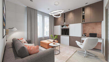 Проект квартиры в пятиэтажном кирпичном доме, м. Коломенская