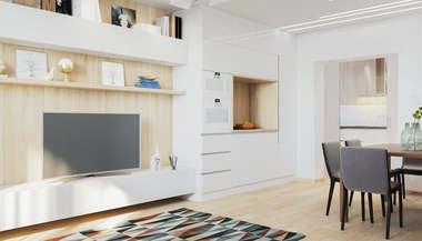 Трехкомнатная квартира 90 кв.м. в доме серии П-3М в современном стиле
