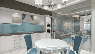 Дизайн-проект квартиры в Геленджике для отдыха семьи с ребенком.