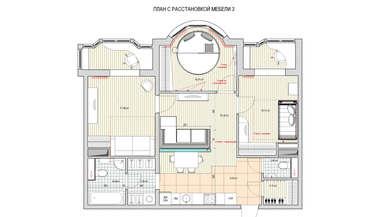 Перепланировка типовой квартиры в доме И-155, Митино | Портфолио работ