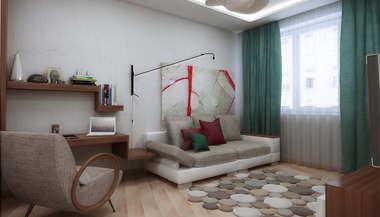 Дизайн однокомнатной квартиры | Дизайн проект 1 комнатной квартиры, м. Павелецкая