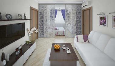 Дизайн-проект 2-комнатной квартиры, Ленинский проспект