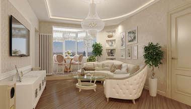 Дизайн трехкомнатной квартиры П-44Т, перепланировка и декорирование