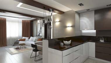 Дизайн интерьера двухкомнатной квартиры в Котельниках для молодой жены