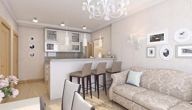 Дизайн 3-комнатной квартиры КОПЭ-М-Парус, м. Юго-Западная