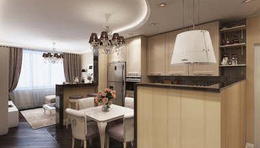 Дизайн и перепланировка 3-комнатной квартиры в городе Реутов