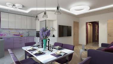 Дизайн-проект трехкомнатной квартиры 120 кв. м., ЖК