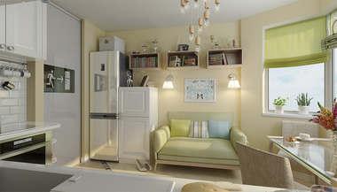 Дизайн двухкомнатной квартиры П-44Т | Перепланировка двухкомнатной квартиры П-44Т