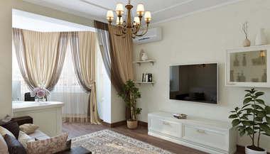 Дизайн трехкомнатной квартиры в 80 кв.м. серии П-44Т в Люблино