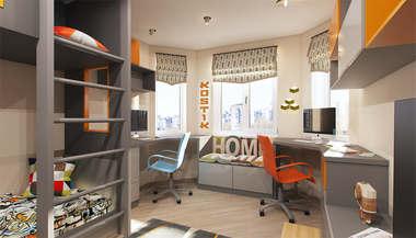 Проект интерьера 3-комнатной квартиры серии П-3М, м. Владыкино
