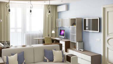 Дизайн однокомнатной квартиры П-44Т, перепланировка м. Каховская