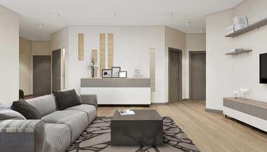 Дизайн-проект трёхкомнатной квартиры в 105 кв.м. на Сухаревской