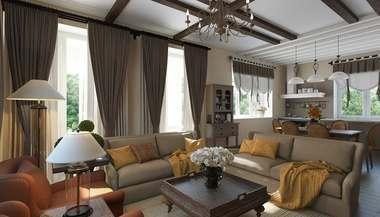 Дизайн интерьера дома в 200 кв.м. в КП «Европа»