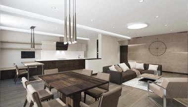 Проект интерьера трехкомнатной квартиры 129 кв.м. в Реутове