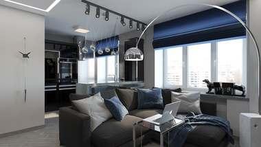 Дизайн однокомнатной квартиры в 30 кв.м. на Красной Пресне