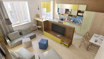 Дизайн двухкомнатной квартиры в 90 кв.м. в ЖК Измайловский