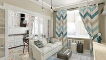 Дизайн трехкомнатной «квартиры-распашонки» 73 кв. м., м. Войковская