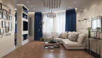 Дизайн-проект трехкомнатной квартиры в 100 кв.м. в городе Реутов
