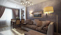 Дизайн-проект интерьера трехкомнатной квартиры серии П-3М, Сокольники