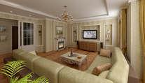 Дизайн квартир в Одинцово | Готовый дизайн проект интерьера четырехкомнатной квартиры, Одинцово