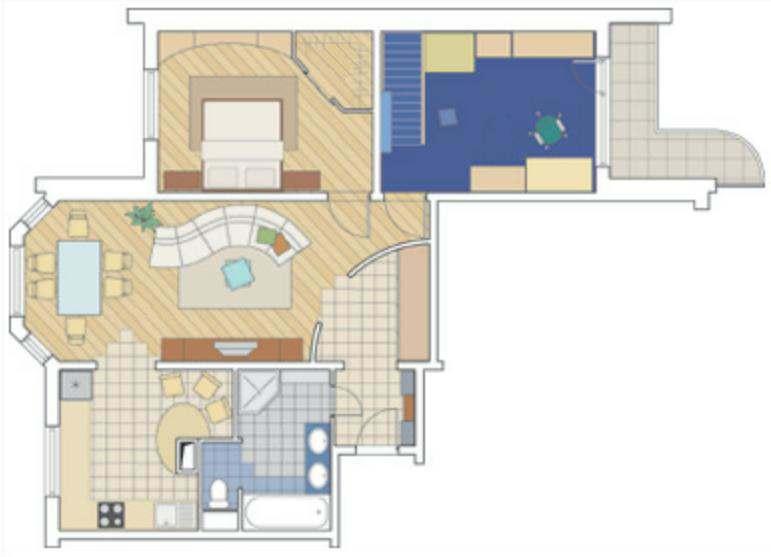 Дизайн проекты перепланировки трехкомнатной квартиры.