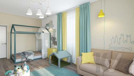 3D-визуализация детской в квартире на проспекте Вернадского - 1