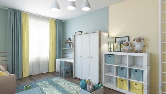 3D-визуализация детской в квартире на проспекте Вернадского - 3