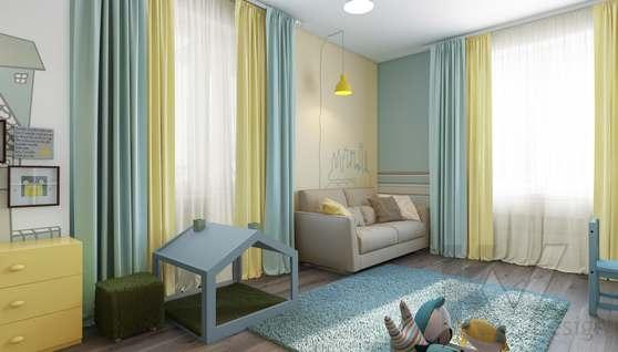 3D-визуализация детской в квартире на проспекте Вернадского - 4