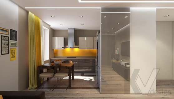 3D-визуализация кухни в квартире на проспекте Вернадского - 2