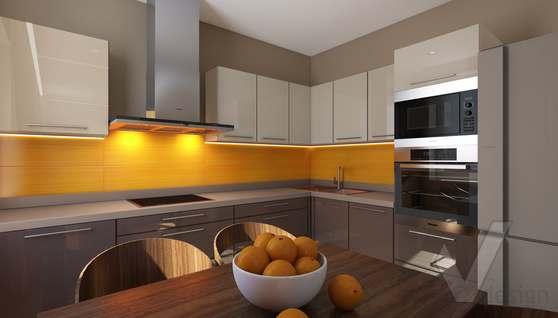3D-визуализация кухни в квартире на проспекте Вернадского - 3
