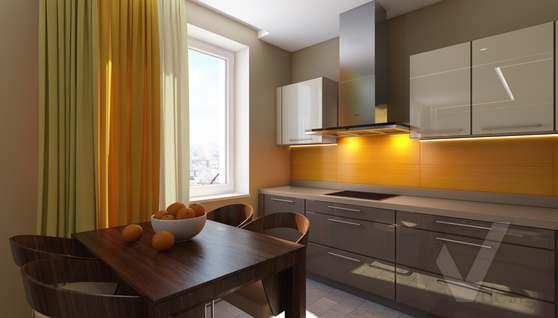 3D-визуализация кухни в квартире на проспекте Вернадского - 4