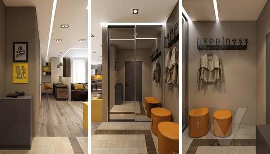 3D-визуализация прихожей в квартире на проспекте Вернадского