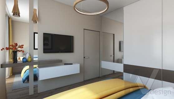 3D-визуализация спальни в квартире на проспекте Вернадского - 3