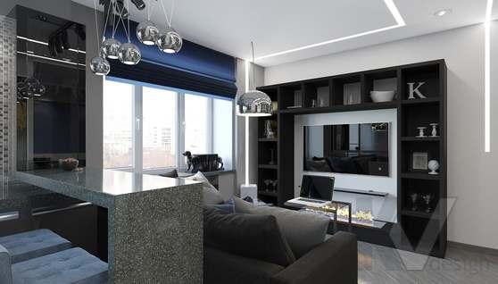 дизайн 1-комнатной квартиры, Красная Пресня - 2
