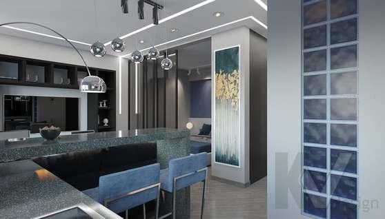 дизайн 1-комнатной квартиры, Красная Пресня - 3