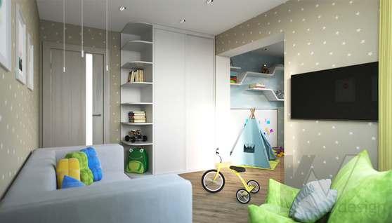 Дизайн детской в 2-комнатной квартире, Некрасовка Парк - 3