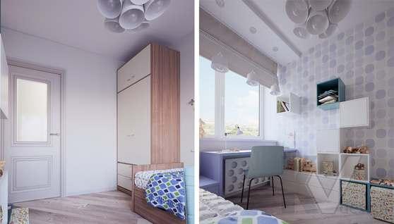 дизайн детской в 3-комнатной квартире II-68 - 1