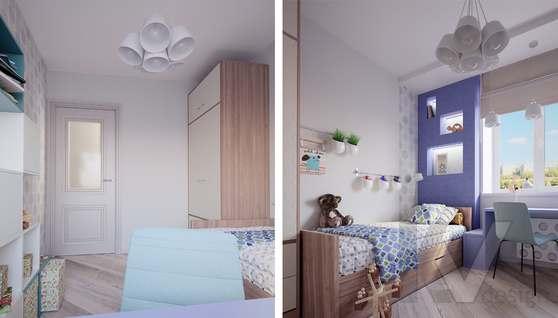 дизайн детской в 3-комнатной квартире II-68 - 2